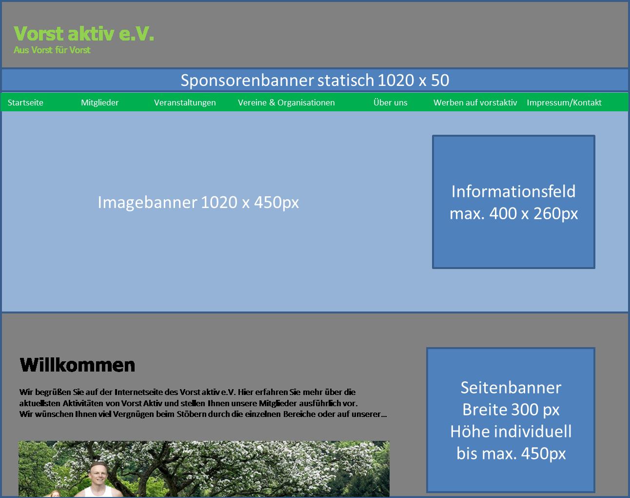 Homepage Werbung