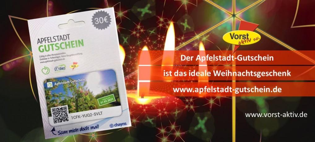 Apfelstadt-Gutschein mit Weihnachtsbonus